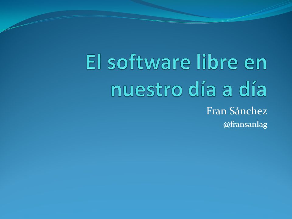 La FSF y la OSI… Open Source Initiative Free Software Foundation Fundada en 1998.