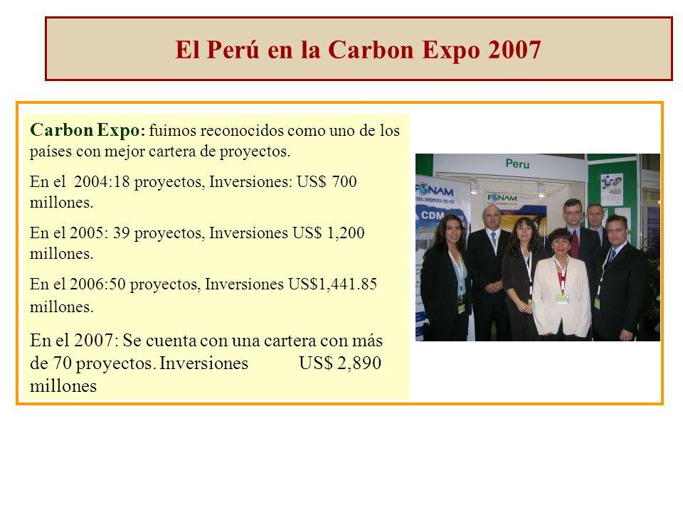 Carbon Expo : fuimos reconocidos como uno de los países con mejor cartera de proyectos.