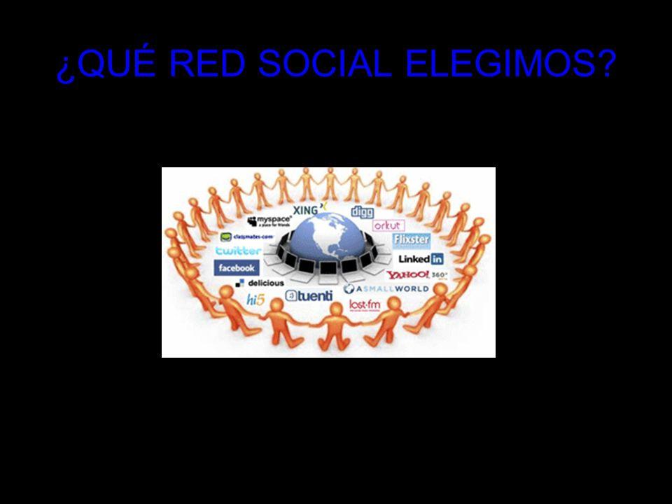 ¿QUÉ RED SOCIAL ELEGIMOS