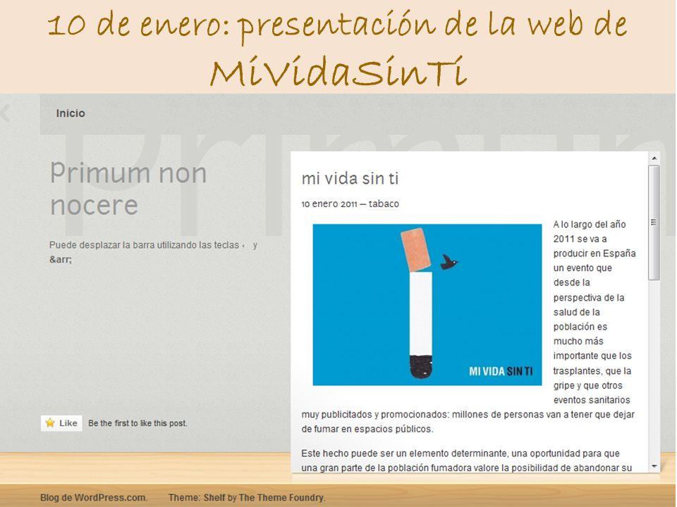 10 de enero: presentación de la web de MiVidaSinTi