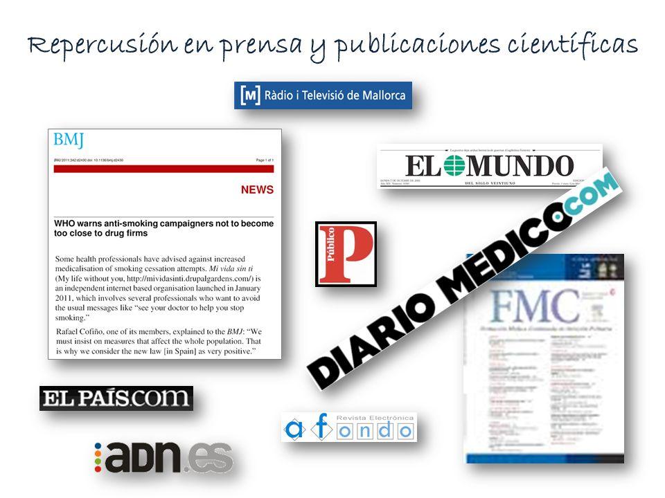 Repercusión en prensa y publicaciones científicas