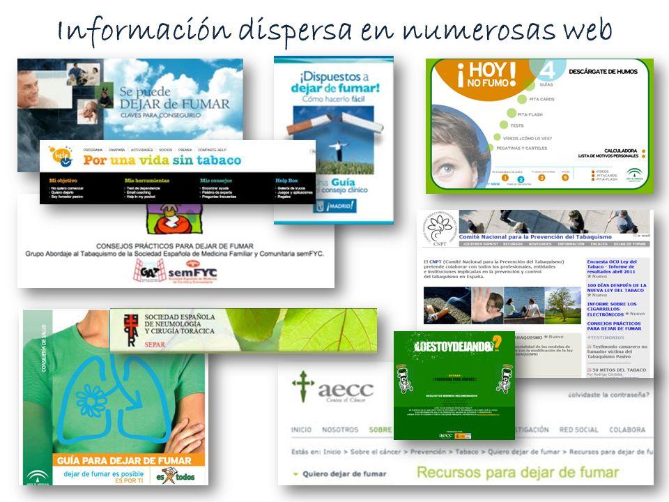 Información dispersa en numerosas web