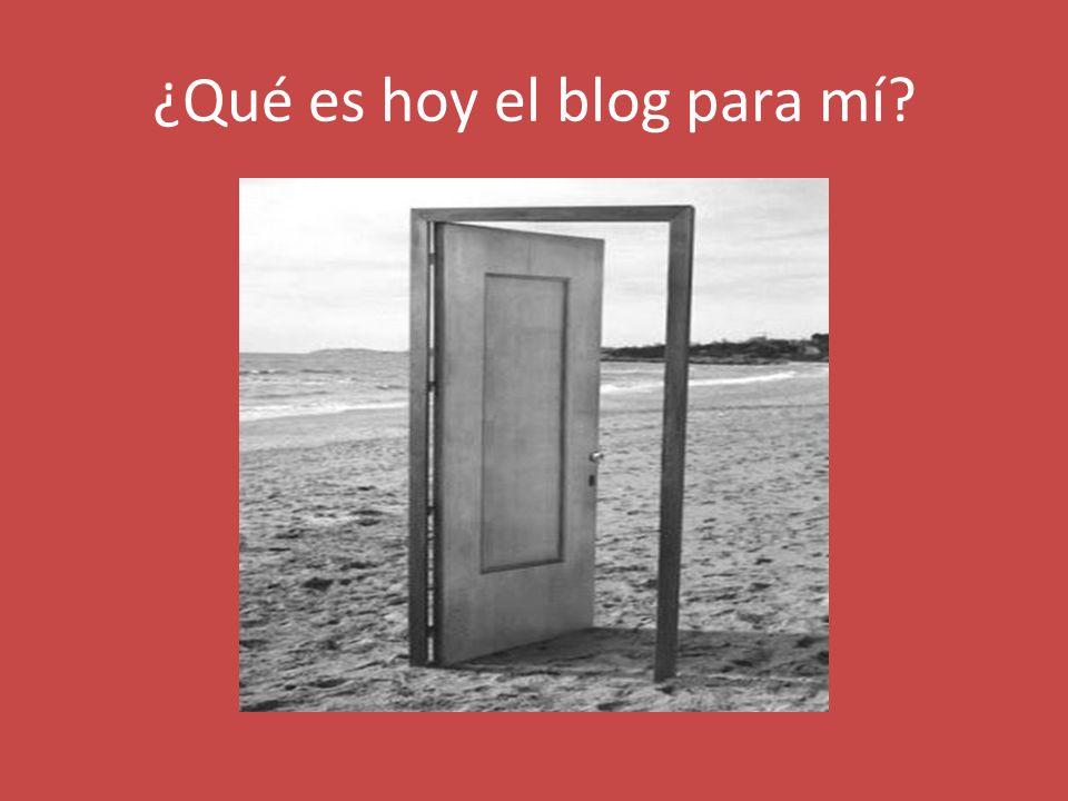 ¿Qué es hoy el blog para mí?