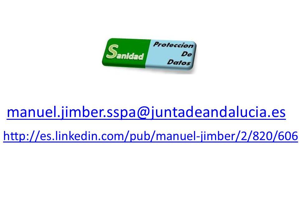 manuel.jimber.sspa@juntadeandalucia.es http://es.linkedin.com/pub/manuel-jimber/2/820/606