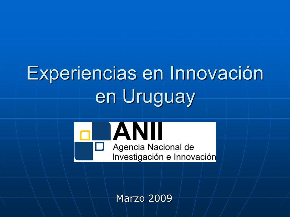 Experiencias en Innovación en Uruguay Marzo 2009