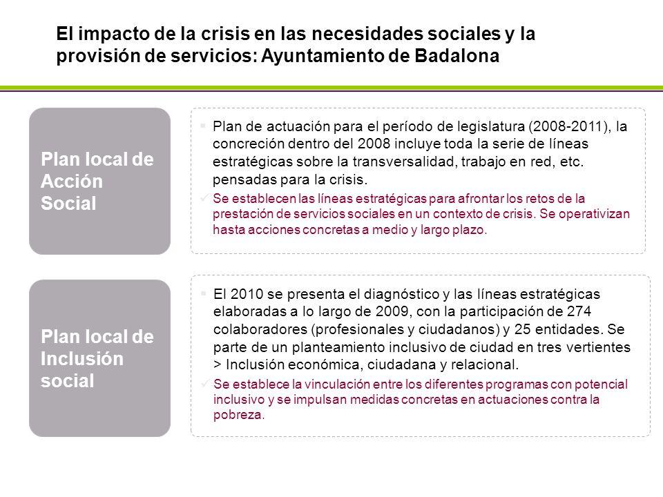 Plan local de Acción Social Plan de actuación para el período de legislatura (2008-2011), la concreción dentro del 2008 incluye toda la serie de líneas estratégicas sobre la transversalidad, trabajo en red, etc.