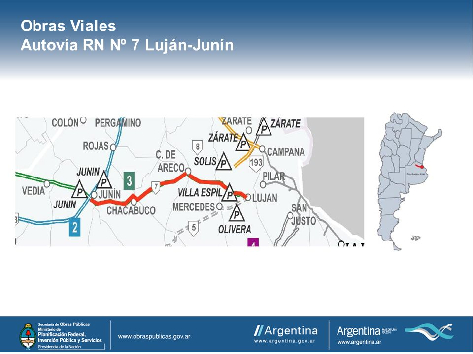 Obras Viales Autovía RN Nº 7 Luján-Junín