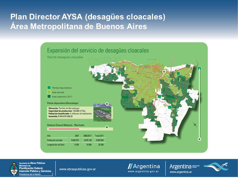 Plan Director AYSA (desagües cloacales) Área Metropolitana de Buenos Aires