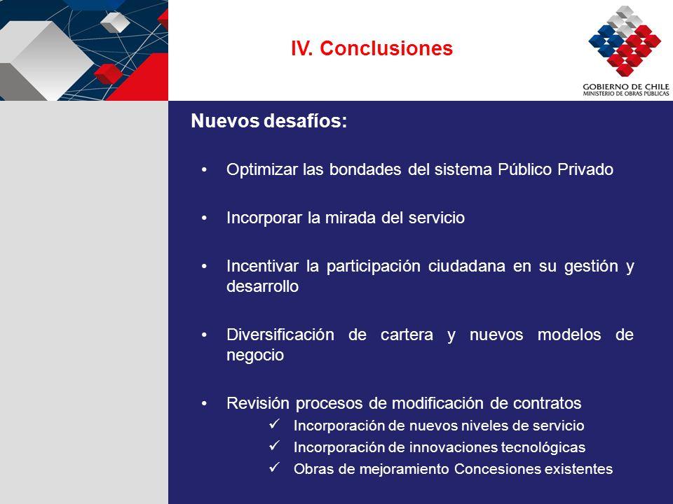 IV. Conclusiones Optimizar las bondades del sistema Público Privado Incorporar la mirada del servicio Incentivar la participación ciudadana en su gest
