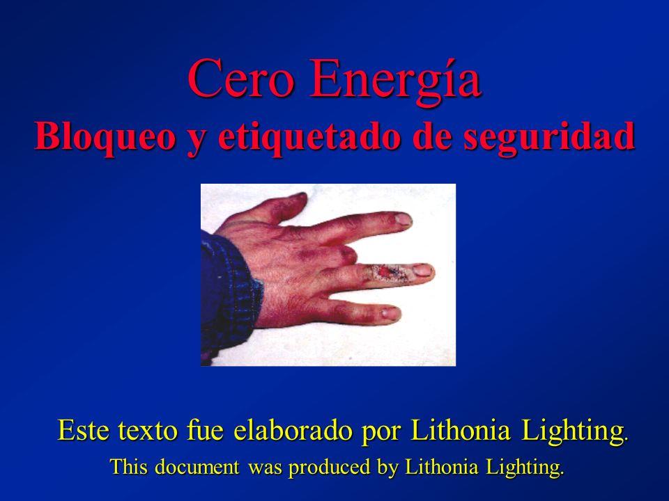Cero Energía Bloqueo y etiquetado de seguridad Este texto fue elaborado por Lithonia Lighting. Este texto fue elaborado por Lithonia Lighting. This do