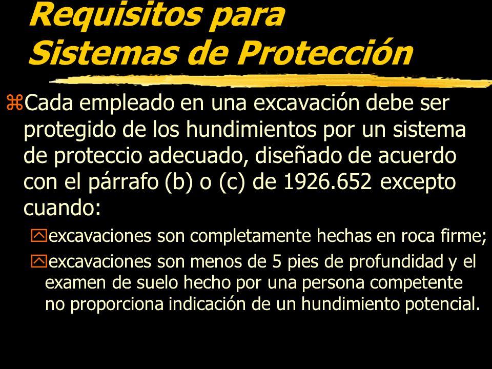 Protección Contra Caidas zSe proporcionarán andadores donde se requieren o permite a los empleados o equipos para atravesar sobre las excavaciones. zB