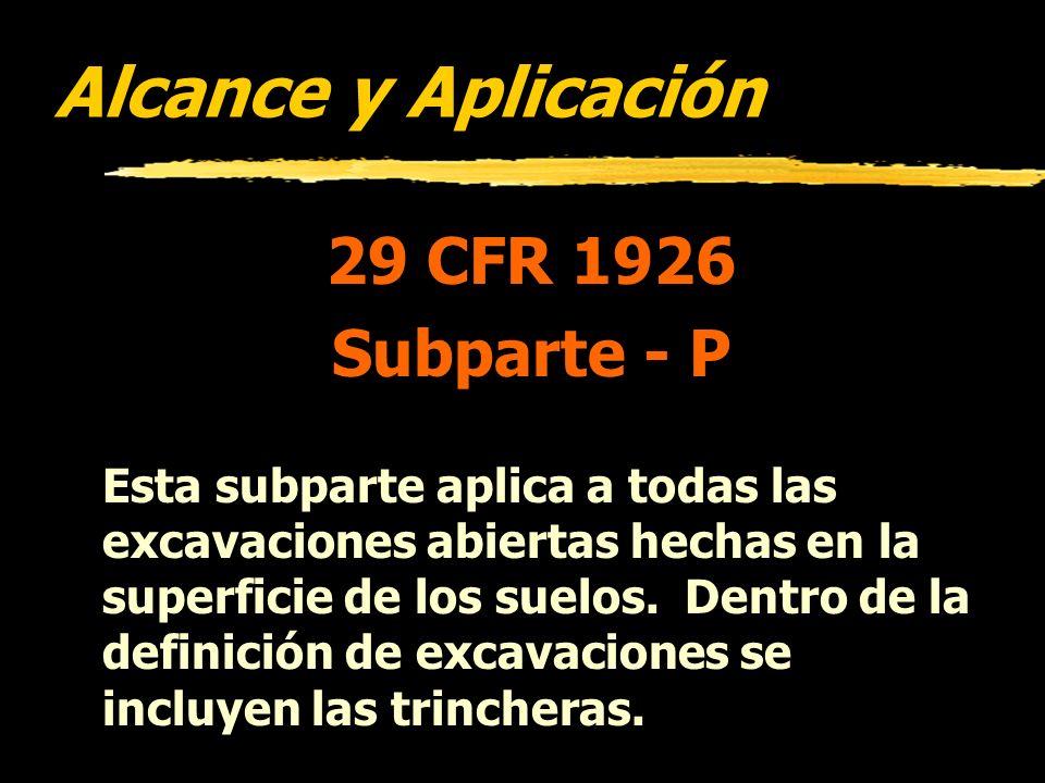 Violationes Citadas por OSHA más Frequentemente Construcción Año Fiscal 1997 1926: 652 (a)(1)Employee Protection in Excavations735 651 (k)(1)Inspectio