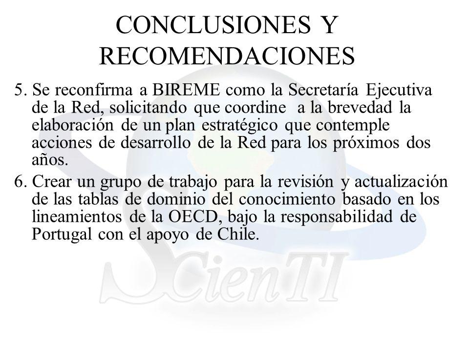 CONCLUSIONES Y RECOMENDACIONES 5.