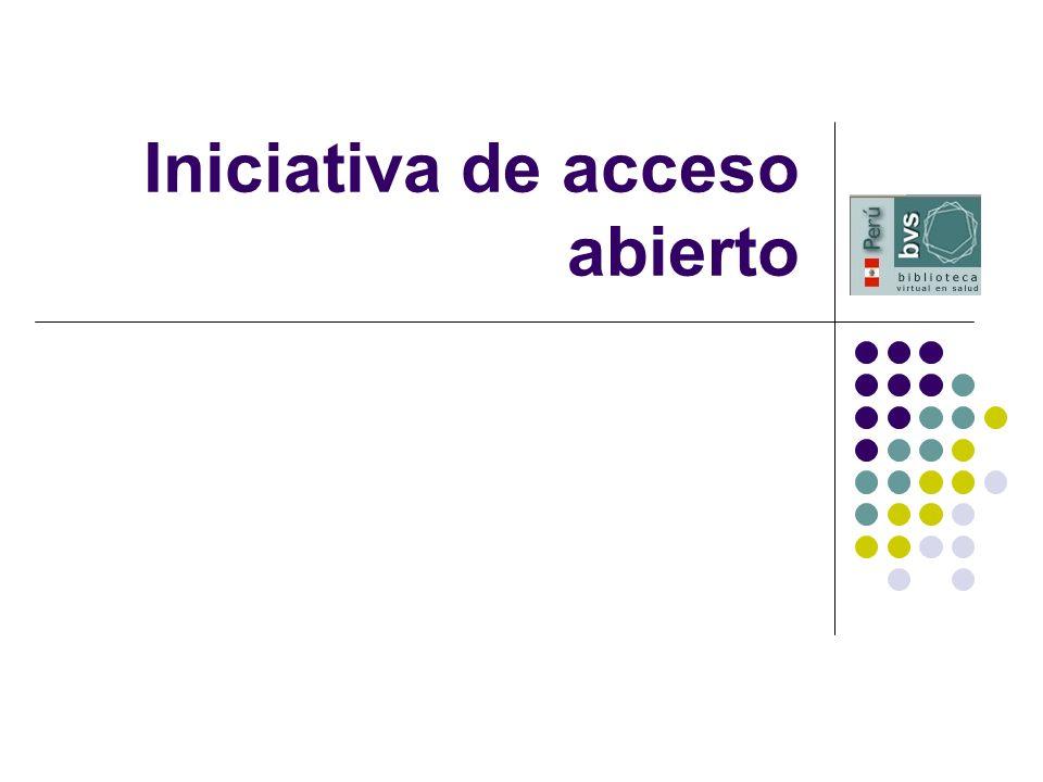 Iniciativa de acceso abierto