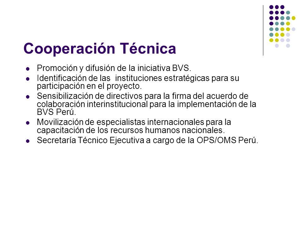Cooperación Técnica Promoción y difusión de la iniciativa BVS.