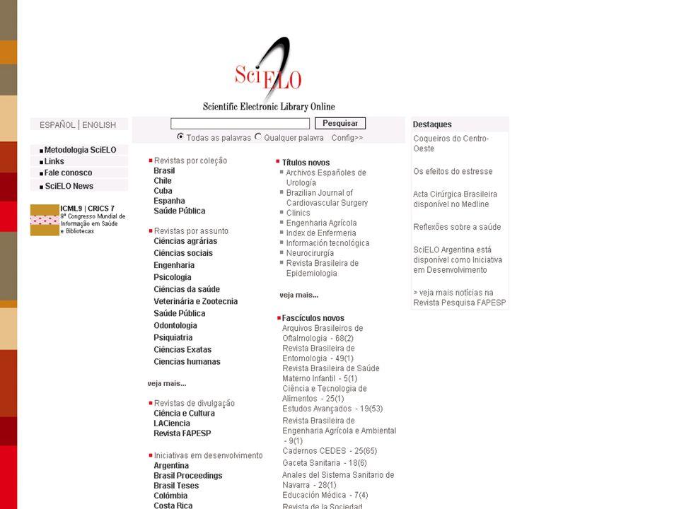 La Red SciELO Red de sitios en operación en América Latina, Caribe y España Recuperación integrada de datos en colecciones certificadas de revistas científicas.