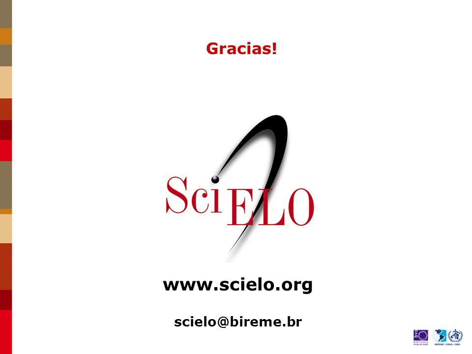 www.scielo.org scielo@bireme.br Gracias!