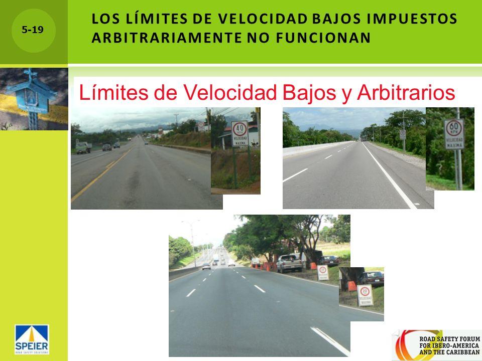 5-19 LOS LÍMITES DE VELOCIDAD BAJOS IMPUESTOS ARBITRARIAMENTE NO FUNCIONAN Límites de Velocidad Bajos y Arbitrarios