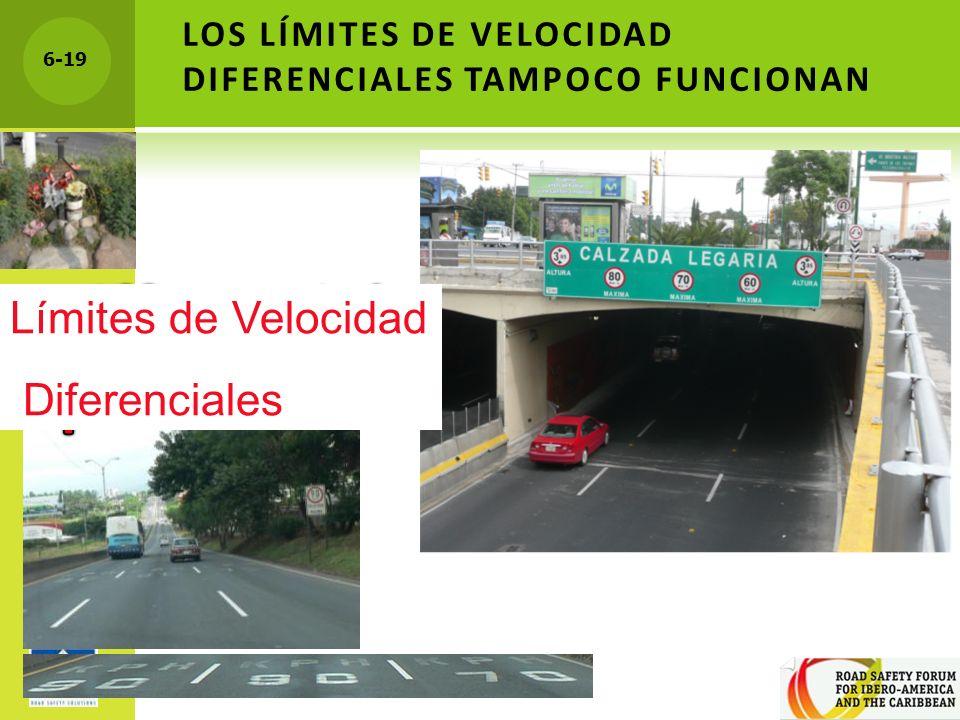 6-19 LOS LÍMITES DE VELOCIDAD DIFERENCIALES TAMPOCO FUNCIONAN Límites de Velocidad Diferenciales