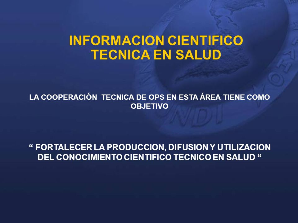 Centro De Documentación e Información en Salud OPS/OMS El Salvador Unidad especializada en información sobre Salud Pública de la Representación de la Organización Panamericana de la Salud en El Salvador