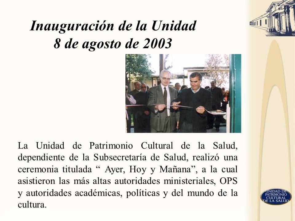 La Unidad de Patrimonio Cultural de la Salud, dependiente de la Subsecretaría de Salud, realizó una ceremonia titulada Ayer, Hoy y Mañana, a la cual a