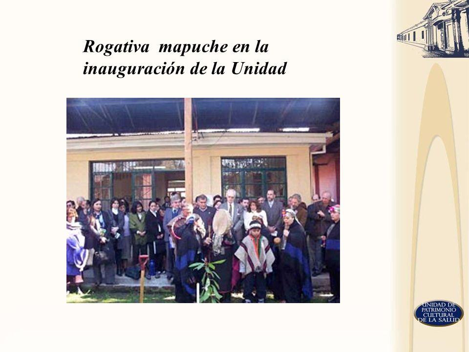 Rogativa mapuche en la inauguración de la Unidad
