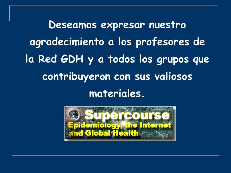 Deseamos expresar nuestro agradecimiento a los profesores de la Red GDH y a todos los grupos que contribuyeron con sus valiosos materiales.