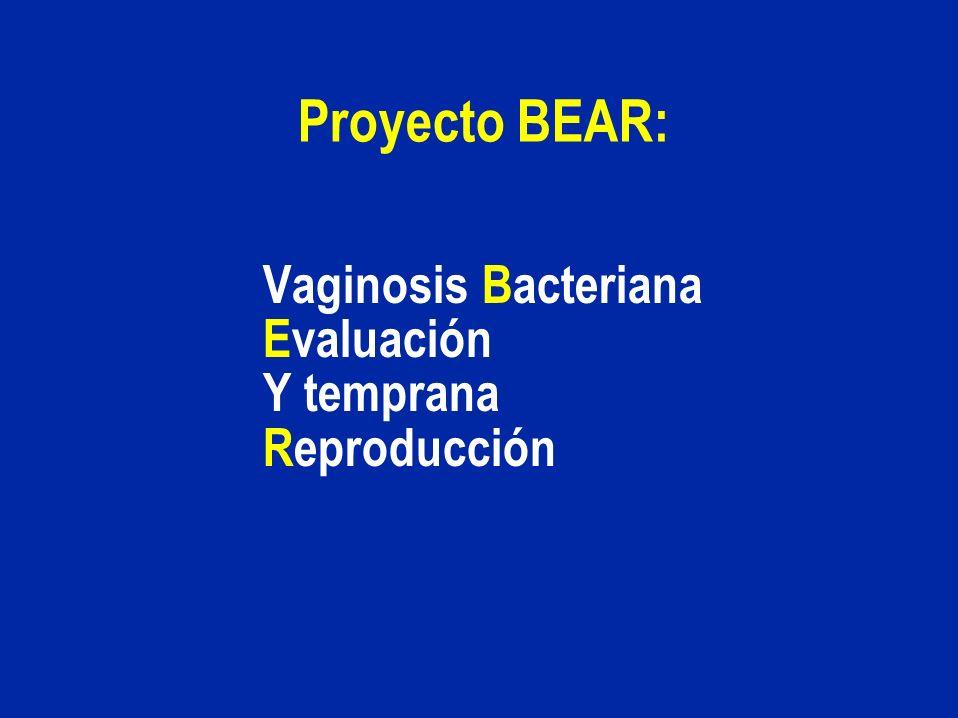 Vaginosis Bacteriana Evaluación Y temprana Reproducción Proyecto BEAR: