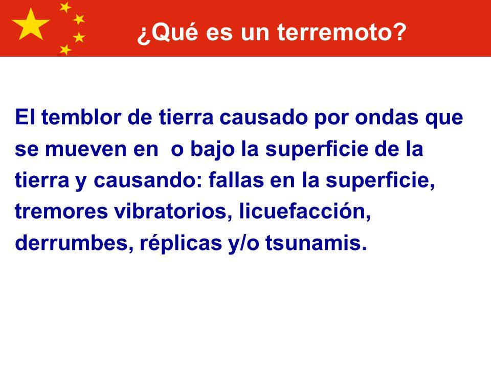 10 Principales desastres en China Clasificados por daños en Dólares EUA DesastreFechaDaño en EUA$ (000 s) 1 Inundación1-Jul-9830,000,000 2 SequíaEnero-9413,755,200 3 Inundación30-Jun-9612,600,000 4 Inundación23-Jun-998,100,000 5 Inundación23-Jun-037,890,000 6 Inundación1-Jun-917,500,000 7 Inundación15-May-956,720,000 8 InundaciónAgo-966,314,500 9 InundaciónJun-936,061,000 10 Terremoto27-Jul-765,600,000