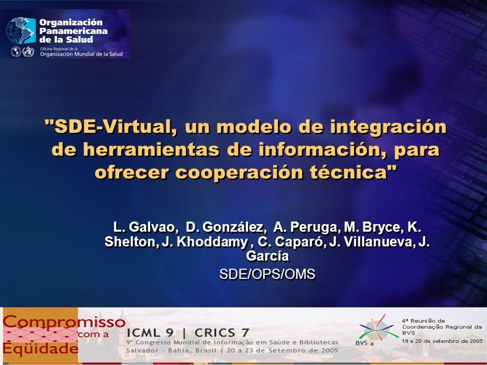 SDE-Virtual, un modelo de integración de herramientas de información, para ofrecer cooperación técnica L.