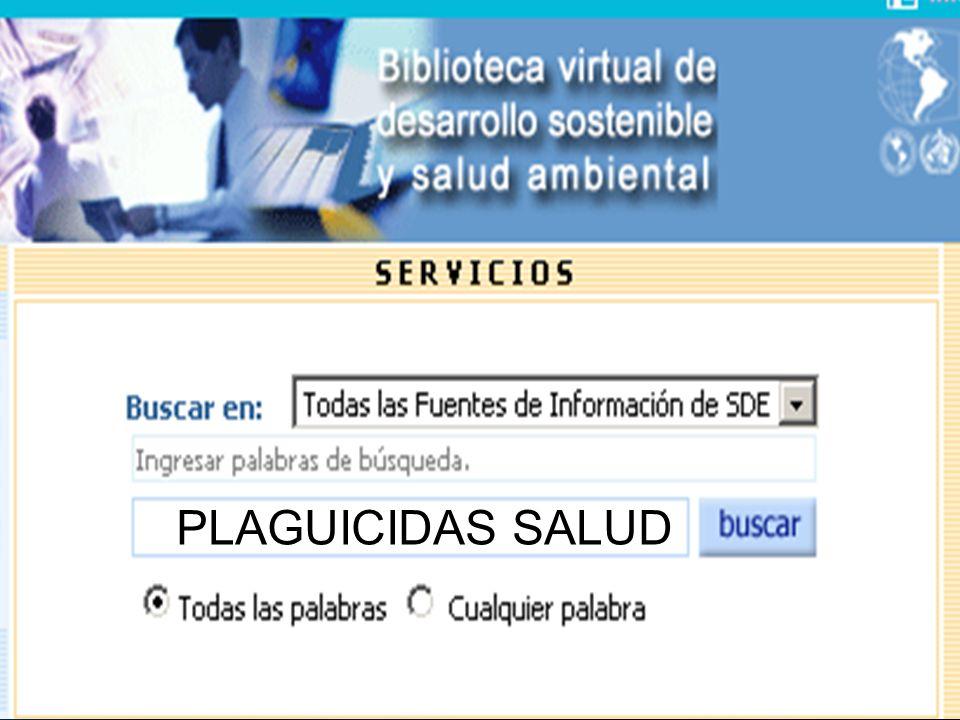 PLAGUICIDAS SALUD