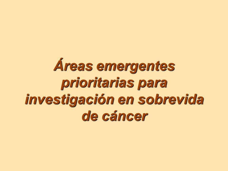 Áreas emergentes prioritarias para investigación en sobrevida de cáncer