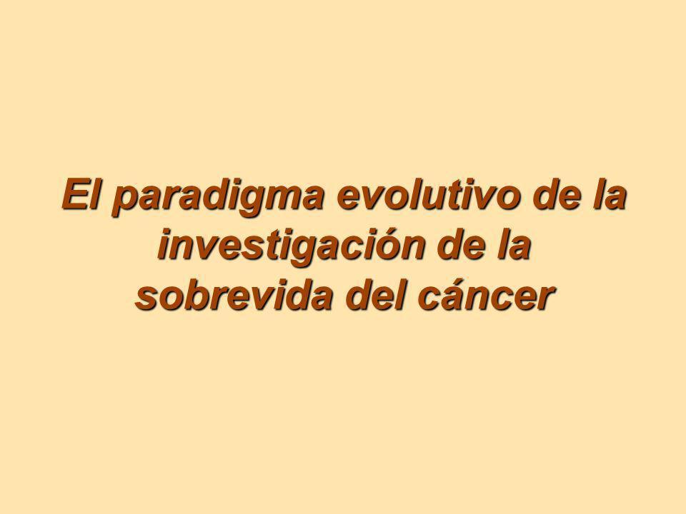 El paradigma evolutivo de la investigación de la sobrevida del cáncer