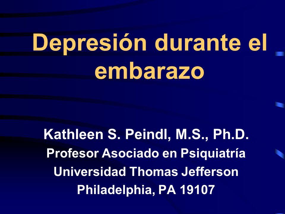 En los últimos 18 años, mi interés por la depresión prenatal, se incrementó debido a dos razones.