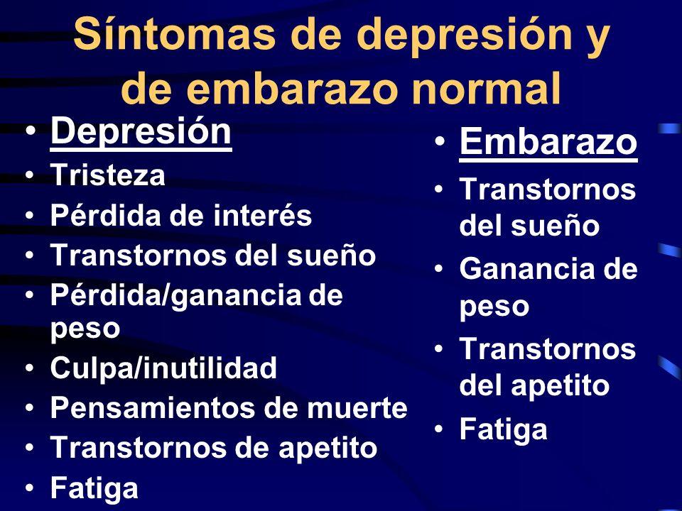 Dificultadad con el diagnóstico de la depresión 50% de las mujeres tienen depresión sin diagnosticar en una clínica gineco-obstétrica* La tasa de detección puede ser de hasta 0.8% en mujeres embarazadas**