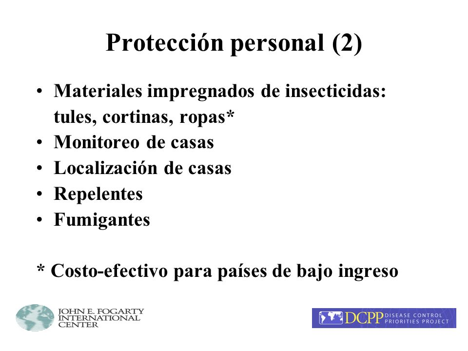 Antimaláricos (3) Manejo de paciente: diagnóstico temprano, tratamiento, referencia, educación Quimioprofilaxis Tratamiento intermitente (embarazo)* Terapia radical para recaídas (P.