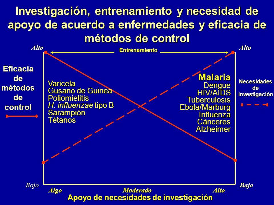 Agenda de investigación Patogénesis Desarrollo de medicamentos Inmunología y desarrollo de vacuna Diagnóstico Entomología Recientes adelantos genéticos