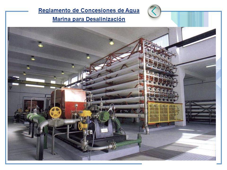 Reglamento de Concesiones de Agua Marina para Desalinización