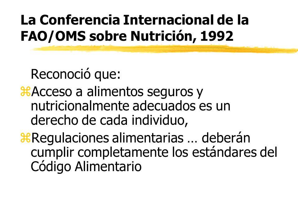 Comités del Codex sobre temas generales(2): 4.Comité del Codex para higiene de los alimentos, 5.Comité del Codex sobre residuos de pesticidas, 6.Comité del Códex para aditivos y contaminantes de alimentos,
