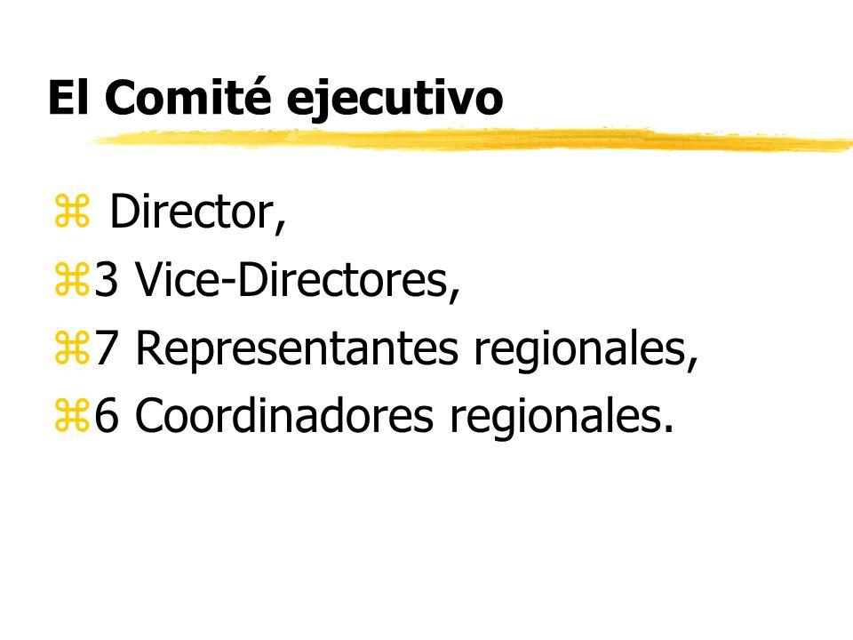 Comités Coordinadores Regionales: z6 Comités Regionales – para África, Asia, Europa, Latino América y el Caribe, Norte América y Pacífico Sur Occidental, Cercano Oriente.