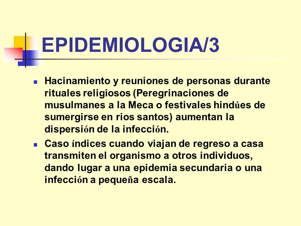 EPIDEMIOLOGIA/3 Hacinamiento y reuniones de personas durante rituales religiosos (Peregrinaciones de musulmanes a la Meca o festivales hind ú es de su