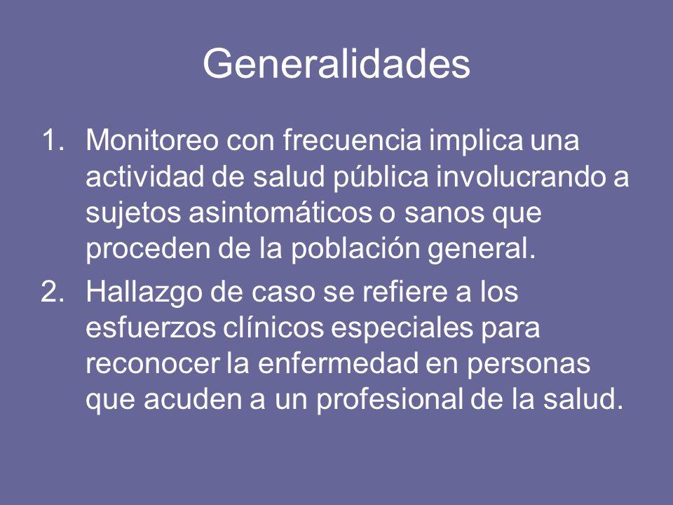 Dos atributos esenciales de prevención secundaria exitosa 1.El monitoreo debe lograr la detección temprana de la enfermedad.