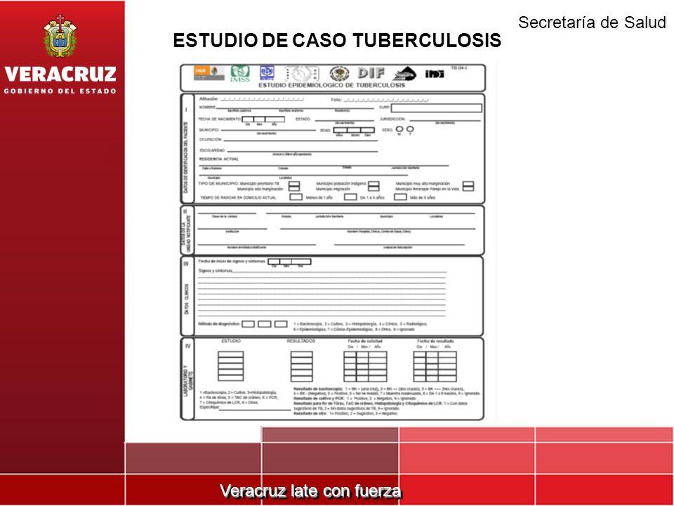 Veracruz late con fuerza Secretaría de Salud ESTUDIO DE CASO TUBERCULOSIS