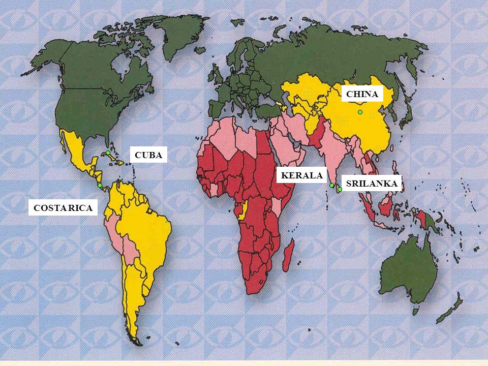 CHINA KERALA SRILANKA COSTA RICA CUBA Prevalencia