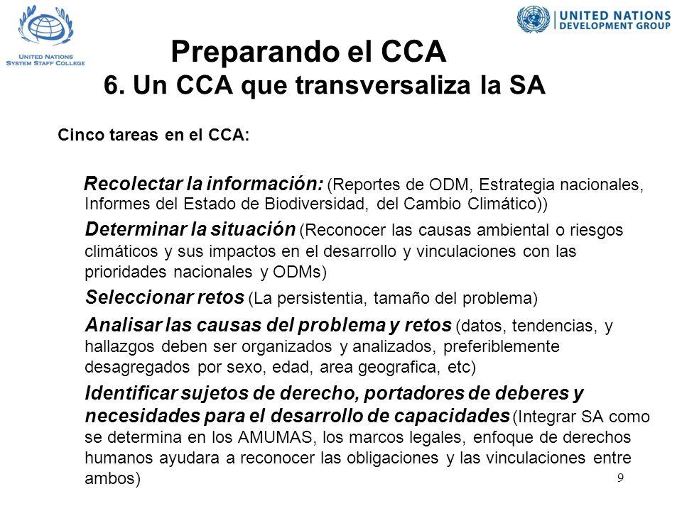 9 Preparando el CCA 6.