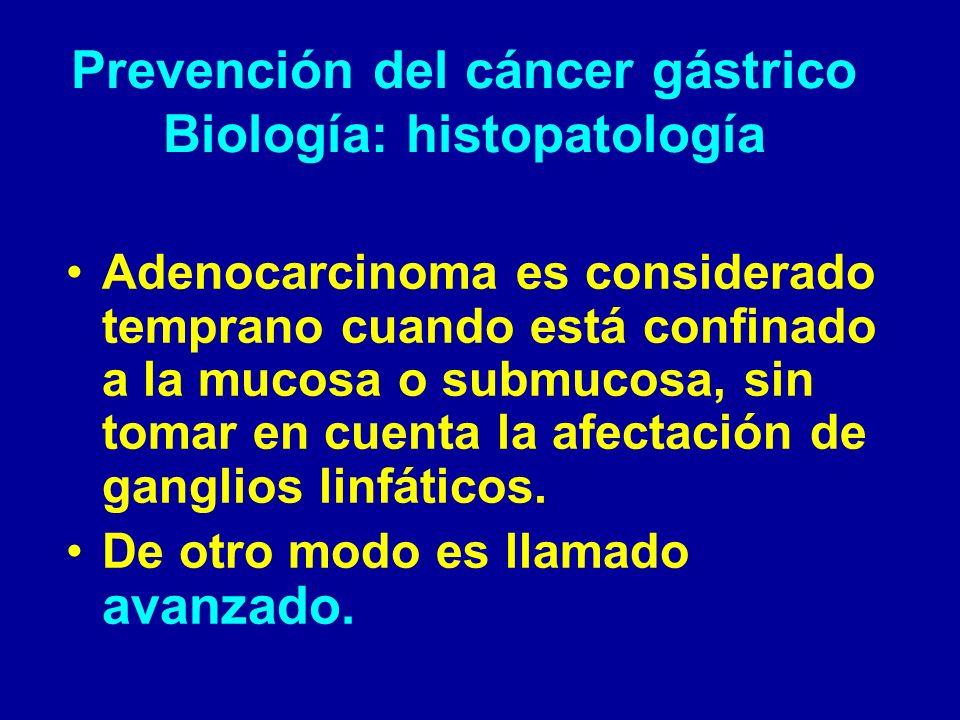 Epidemiología del cáncer gástrico; Epidemiología Infrecuente antes de los 40 años de edad.