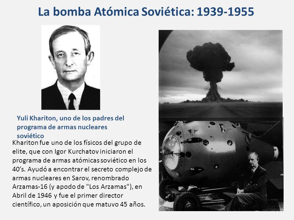 Khariton fue uno de los físicos del grupo de elite, que con Igor Kurchatov iniciaron el programa de armas atómicas soviético en los 40s. Ayudó a encon