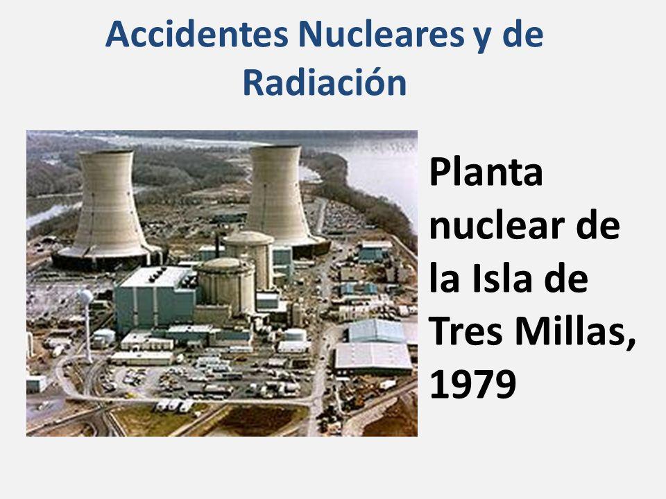 Accidentes Nucleares y de Radiación Planta nuclear de la Isla de Tres Millas, 1979