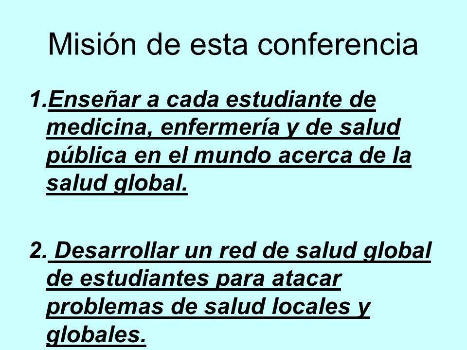 Hay muchos retos a la salud global con enfermedades diferentes involucrando diferentes profesionales.