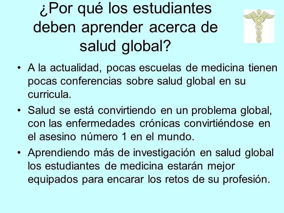 ¿Por qué los estudiantes deben aprender acerca de salud global.